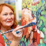 Carole Foster and her designer birds